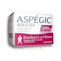 ASPEGIC ADULTES 1000 mg, poudre pour solution buvable en sachet-dose 20 à TOULENNE
