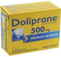 DOLIPRANE 500 mg Poudre pour solution buvable en sachet-dose B/12 à TOULENNE