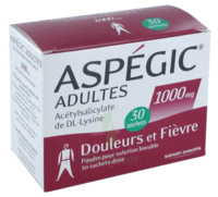ASPEGIC ADULTES 1000 mg, poudre pour solution buvable en sachet-dose 30 à TOULENNE