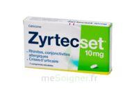 ZYRTECSET 10 mg, comprimé pelliculé sécable à TOULENNE