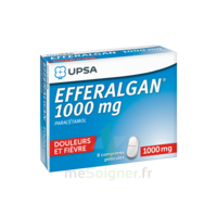 Efferalgan 1000 mg Comprimés pelliculés Plq/8 à TOULENNE