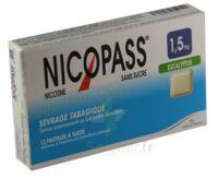 Nicopass 1,5 mg Pastille eucalyptus sans sucre Plq/12 à TOULENNE
