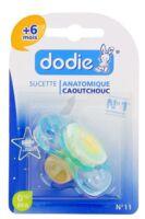 SUCETTE DODIE ANATOMIQUE CAOUTCHOUC PHOSPHORESCENTE 6 MOIS + à TOULENNE