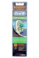 BROSSETTE DE RECHANGE ORAL-B DUAL CLEAN x 3 à TOULENNE