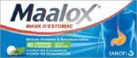 MAALOX HYDROXYDE D'ALUMINIUM/HYDROXYDE DE MAGNESIUM 400 mg/400 mg Cpr à croquer maux d'estomac Plq/40 à TOULENNE