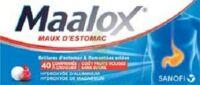 MAALOX MAUX D'ESTOMAC HYDROXYDE D'ALUMINIUM/HYDROXYDE DE MAGNESIUM 400 mg/400 mg SANS SUCRE FRUITS ROUGES, comprimé à croquer édulcoré à la saccharine sodique, au sorbitol et au maltitol à TOULENNE