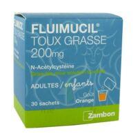 FLUIMUCIL EXPECTORANT ACETYLCYSTEINE 200 mg SANS SUCRE, granulés pour solution buvable en sachet édulcorés à l'aspartam et au sorbitol à TOULENNE