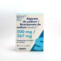 ALGINATE DE SODIUM/BICARBONATE DE SODIUM SANDOZ 500 mg/267 mg, suspension buvable en sachet à TOULENNE