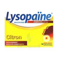 LYSOPAÏNE MAUX DE GORGE AMBROXOL CITRON 20 mg SANS SUCRE, pastille édulcorée au sorbitol et au sucralose à TOULENNE