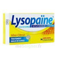 LYSOPAÏNE MAUX DE GORGE CETYLPYRIDINIUM LYSOZYME MIEL CITRON SANS SUCRE, comprimé à sucer édulcoré au sorbitol et à la saccharine à TOULENNE