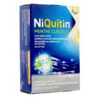 NIQUITIN 2 mg Gom à mâcher médic menthe glaciale sans sucre Plq PVC/PVDC/Alu/30