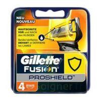Lames de rasoir fusion proshield GILLETTE, 4 recharges à TOULENNE