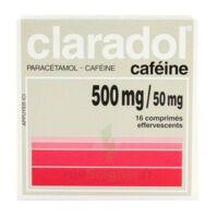 CLARADOL CAFEINE 500 mg/50 mg, comprimé effervescent à TOULENNE