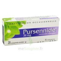 PURSENNIDE 20 mg, comprimé enrobé à TOULENNE