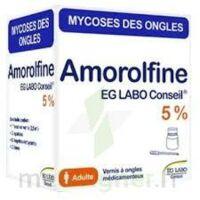 AMOROLFINE EG LABO CONSEIL 5 %, vernis à ongles médicamenteux à TOULENNE