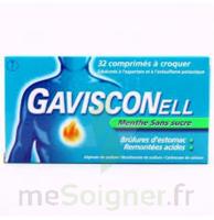 GAVISCONELL Coprimés à croquer sans sucre menthe édulcoré à l'aspartam et à l'acésulfame potas Plq/24 à TOULENNE