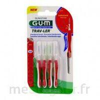 GUM TRAV - LER, 0,8 mm, manche rouge , blister 4 à TOULENNE