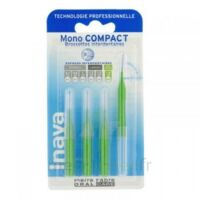 Inava Mono Compact Brossette Extra-large Vert Blister/4 à TOULENNE