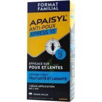Apaisyl Anti-poux Xpress 15' Lotion antipoux et lente 100ml+peigne à TOULENNE