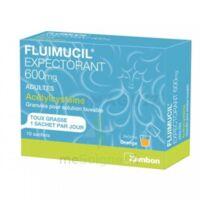 FLUIMUCIL EXPECTORANT ACETYLCYSTEINE 600 mg Glé s buv adultes 10Sach à TOULENNE